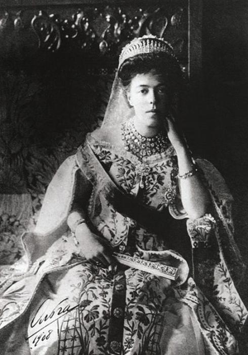 Великая княгиня Ольга Александровна, около 1908 года. / Фото: Wikimedia Commons