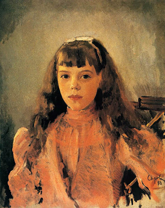 Портрет Ольги Александровны в детстве. / Фото: pinterest.com