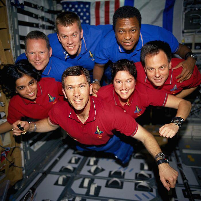 Астронавты космического шаттла «Колумбия». / Фото: reddit.com