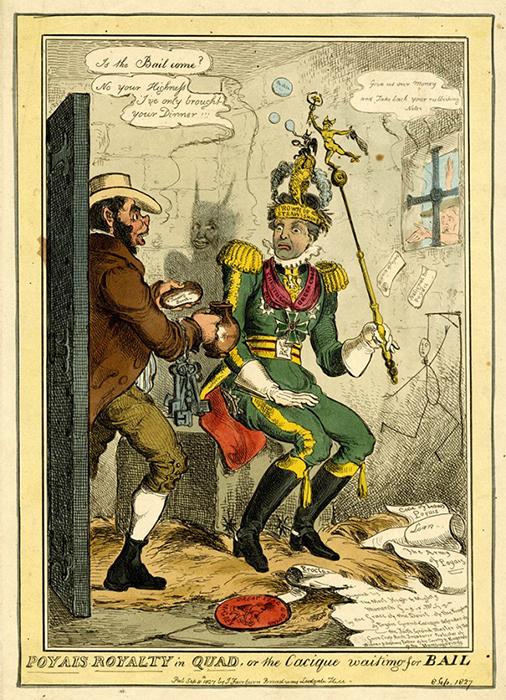 «Величие Пояиса в квадрате, или касик ожидает залога», Уильям Хит, 1827 год. / Фото: smart-lab.ru