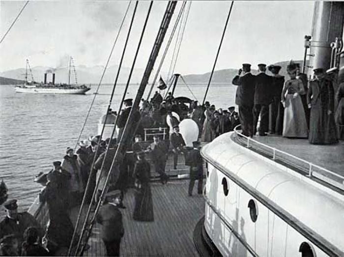 На палубе лайнера. / Фото: pinterest.co.uk