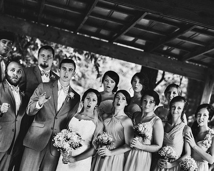 Фотограф упал, делая свадебный снимок, это снимок, который он сделал в этот момент. / Фото: reddit.com