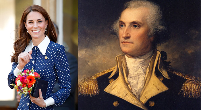 Кейт Миддлтон и Джордж Вашингтон.