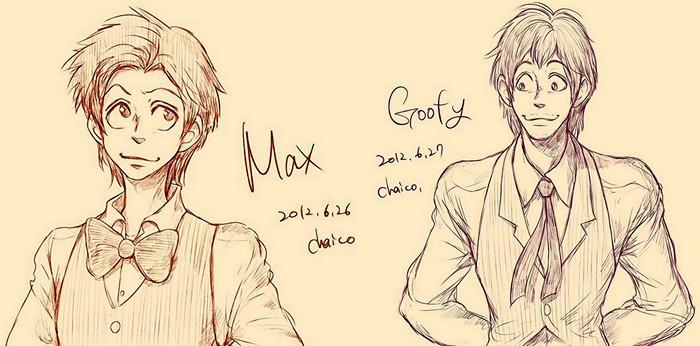 Гуффи и его сын Макс