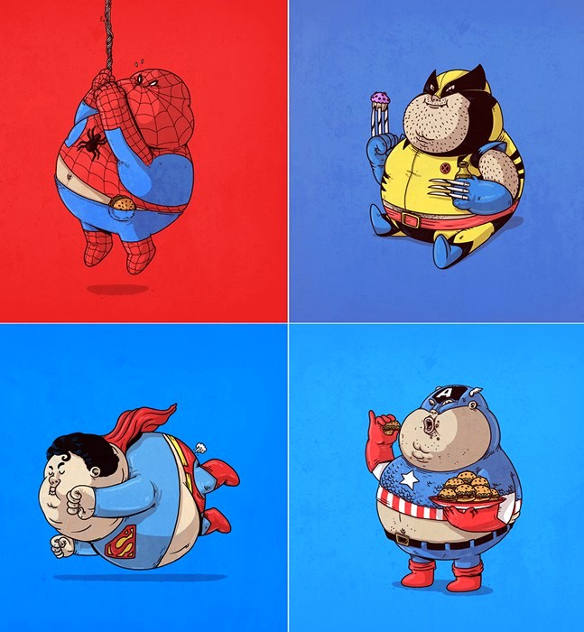 смешные супергерои картинки