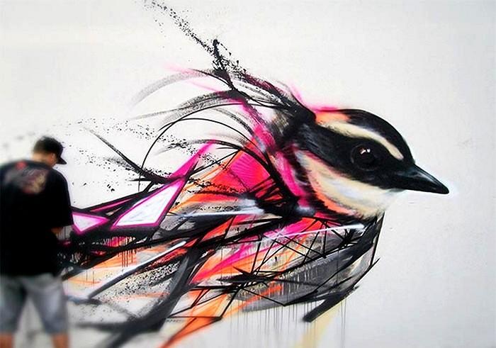 Художник-орнитолог и разноцветные птичьи стаи