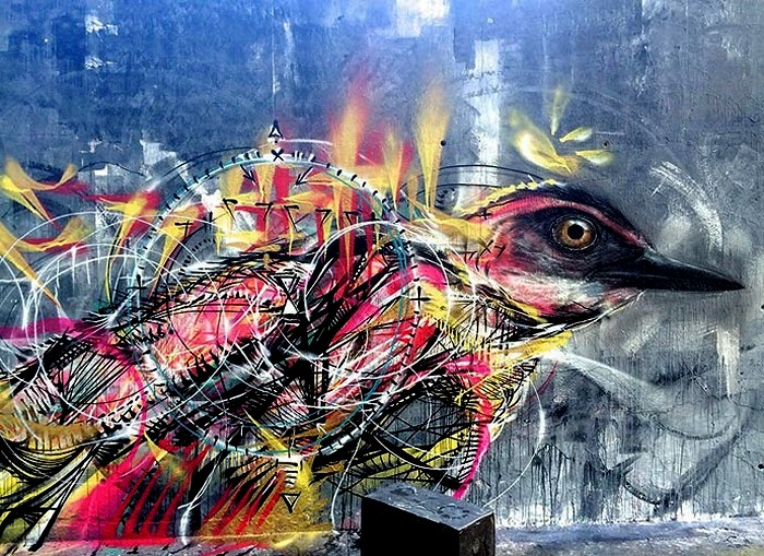 Художественная орнитология в виде стрит арта