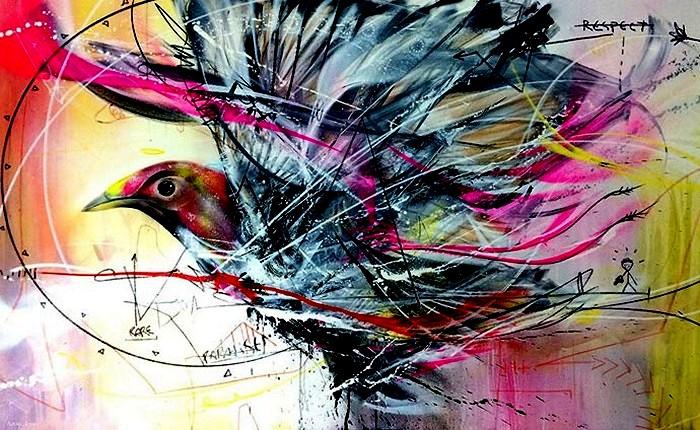 Бразильский художник рисует диковинных птичек