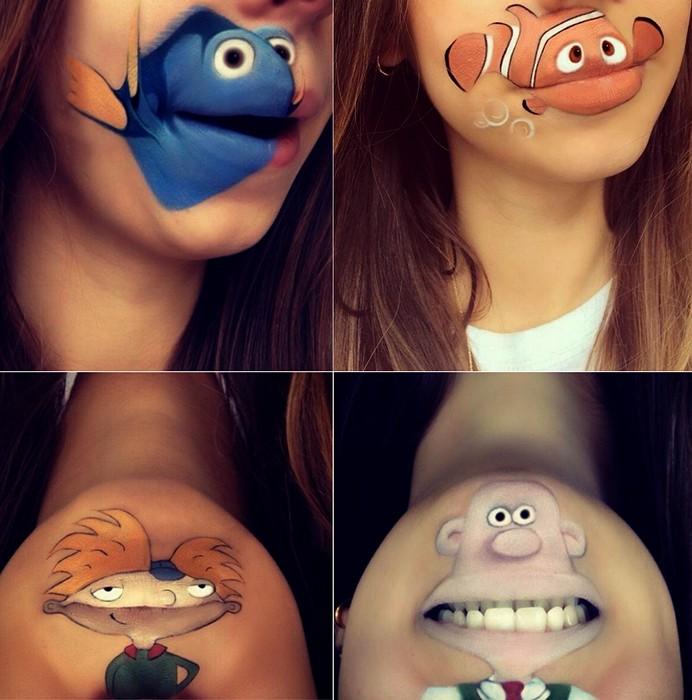 Позитивный макияж с героями любимых мультиков.