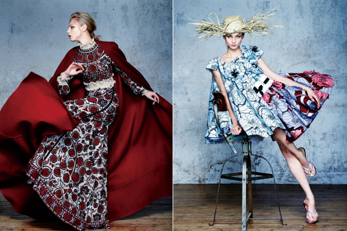 Vogue China Collections April 2015. Модель: Анна Селезнева (Anna Selezneva). Фотограф: David Bellemere.