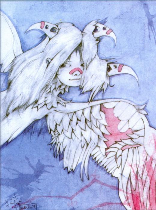 Девушка птица.