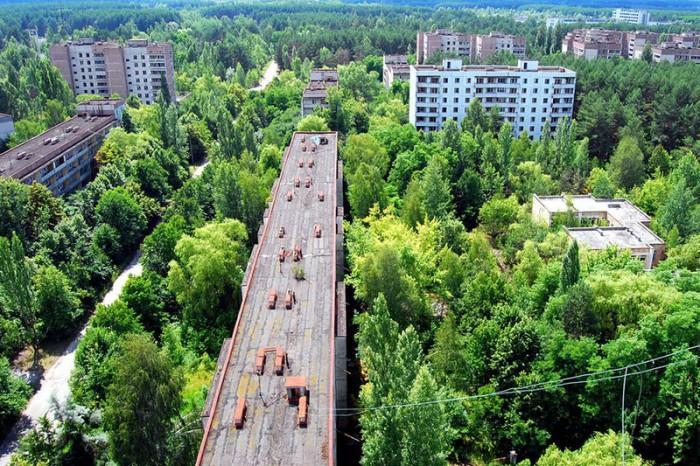 Радиоактивный город-призрак Припять, Украина.