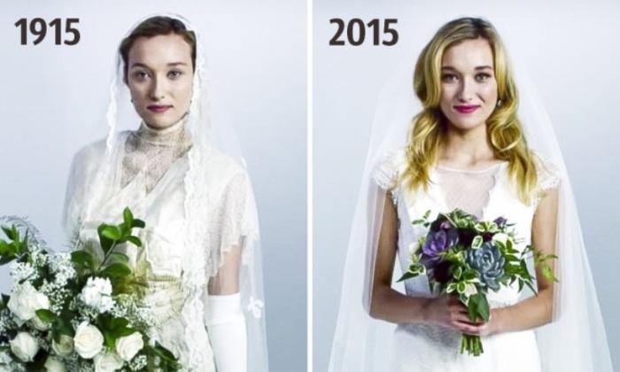 Как изменилась свадебная мода за последние 100 лет.