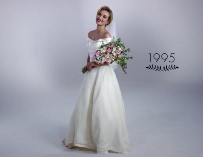 Классический образ. Как изменилась свадебная мода за последние 100 лет.
