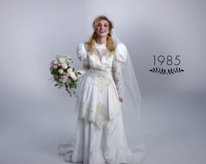 Дерзкие 80-е. Как изменилась свадебная мода за последние 100 лет.
