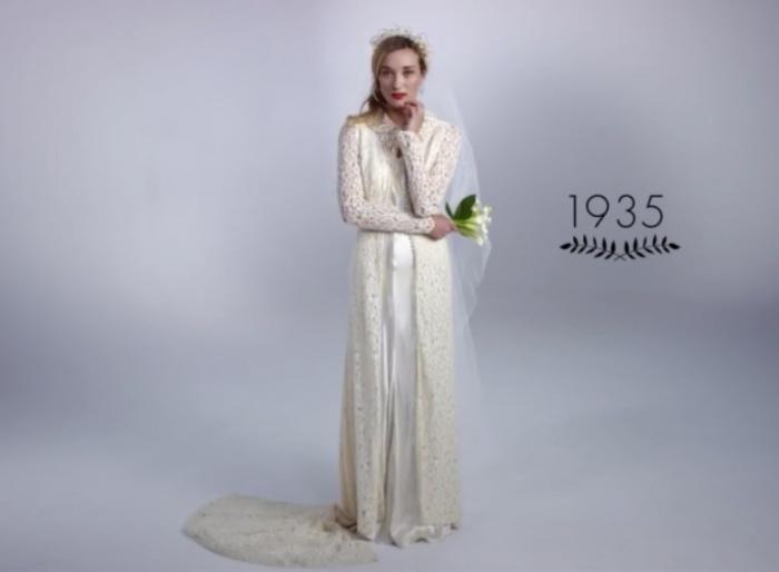 Строгий крой и роскошь Голливуда. Как изменилась свадебная мода за последние 100 лет.