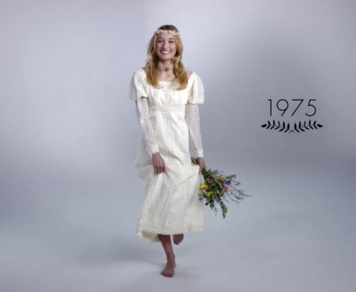 Невеста-хиппи. Как изменилась свадебная мода за последние 100 лет.