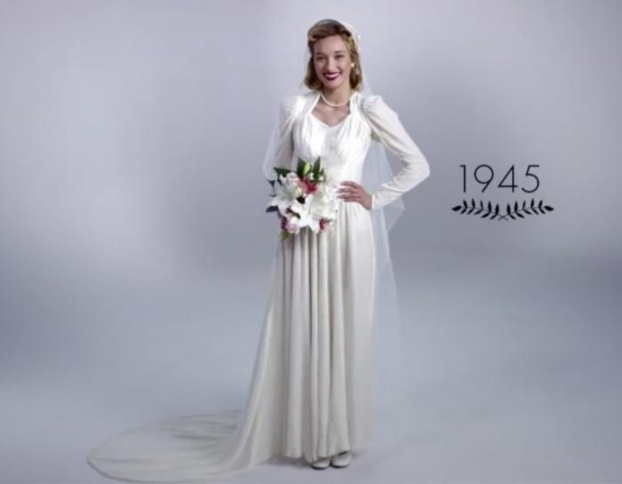 Послевоенная мода. Как изменилась свадебная мода за последние 100 лет.