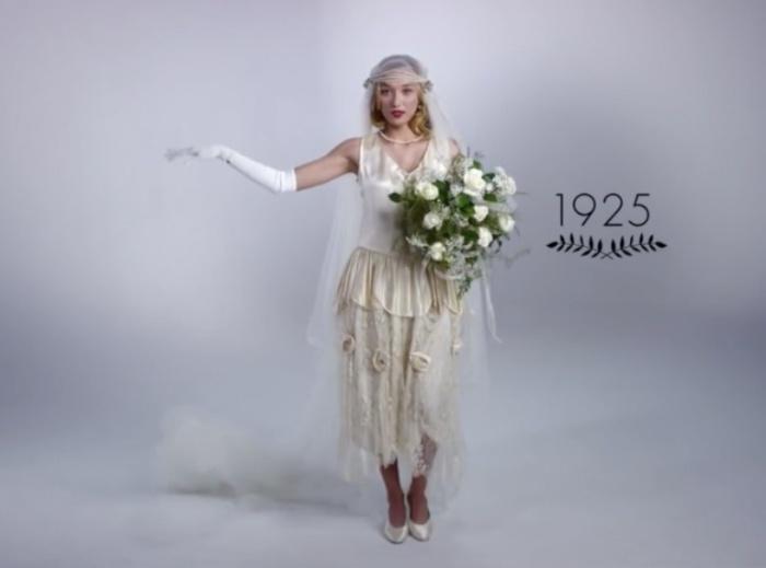 Эпоха джаза. Как изменилась свадебная мода за последние 100 лет.