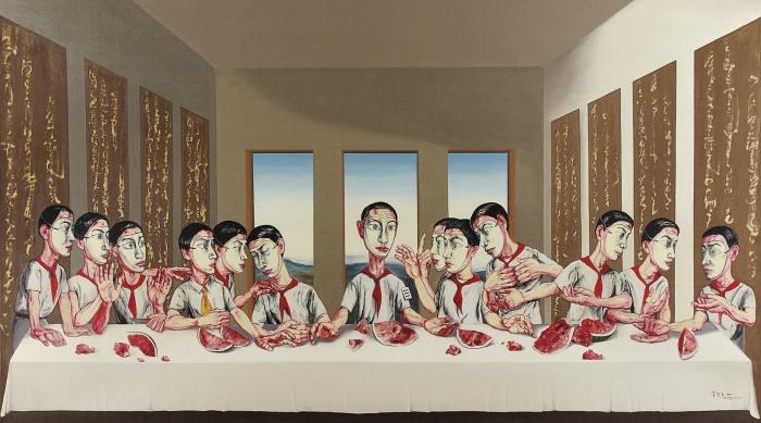 Тайная вечеря. Автор: Zeng Fanzhi. | Фото: cartoonblues.com.