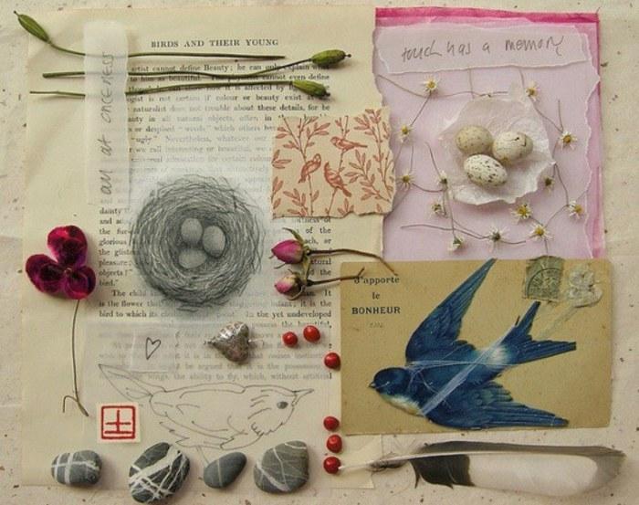 Ласточка. Удивительный коллаж созданный Fiona Watson.