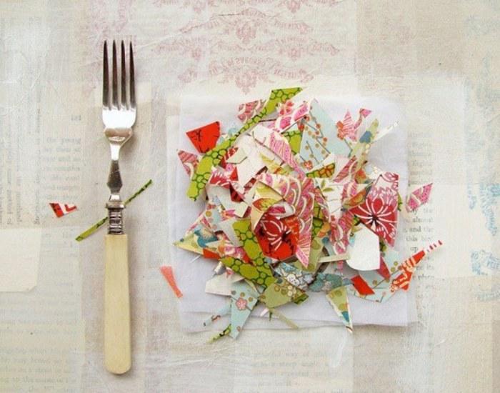 Завтрак - яркий коллаж от Fiona Watson.