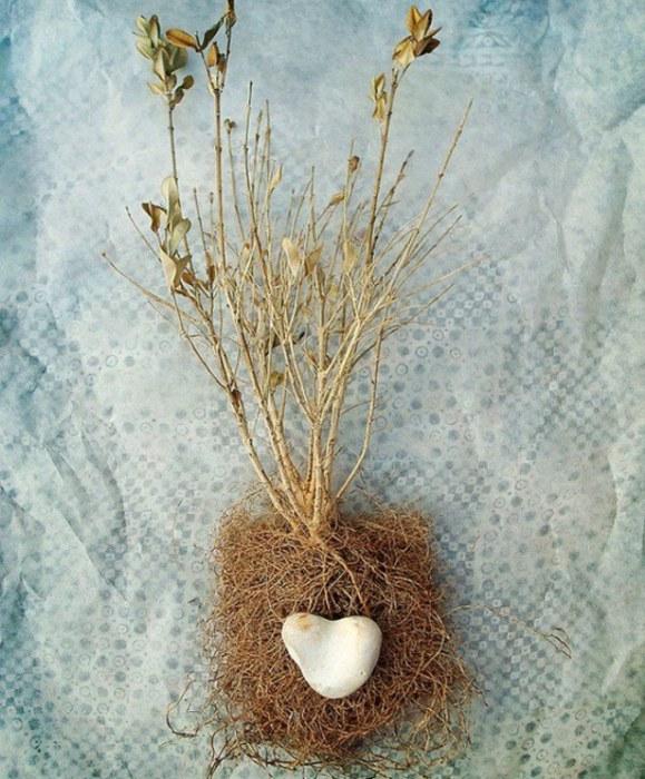 Каменное сердце. Коллаж созданный с любовь от Fiona Watson.