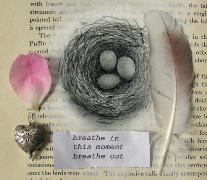 Гнездо - коллаж навеянный дыханием осени.