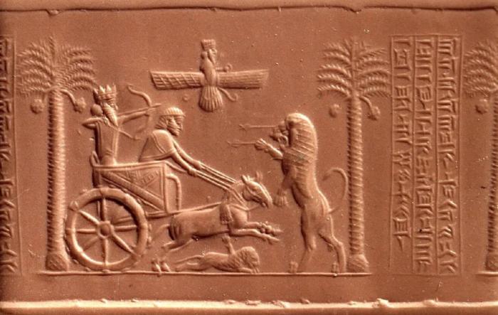 Восковой оттиск печати Дария Великого, 6-5 век до н. э. \ Фото: yandex.ua.