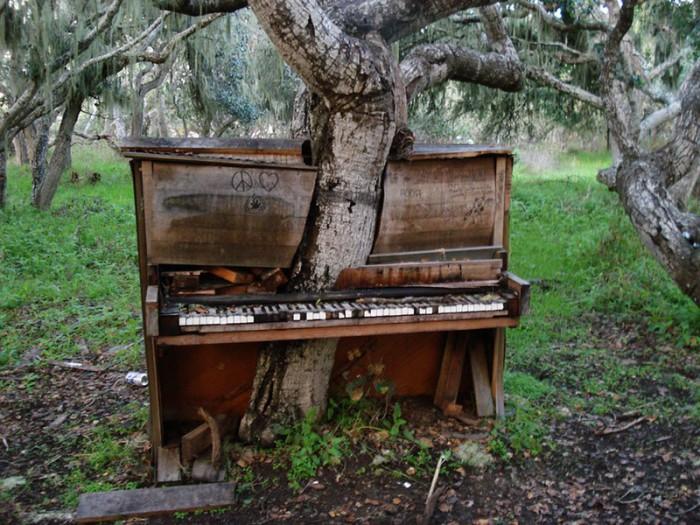 Старое пианино. Калифорния.