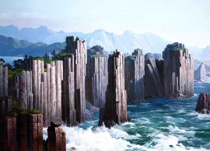 Скалы. Автор: Kang Jung Ho.
