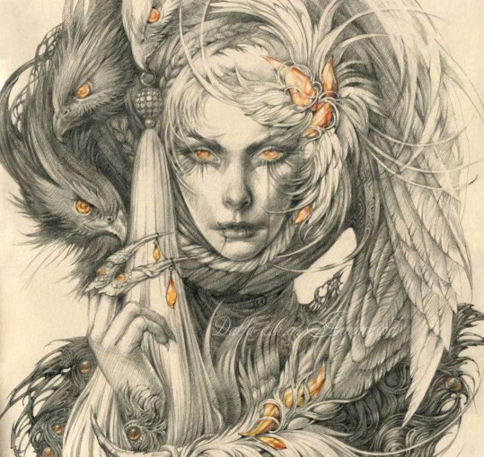 Амбер/Янтарь (Amber). Волшебные работы Ольги Исаевой (Olga Isaeva).