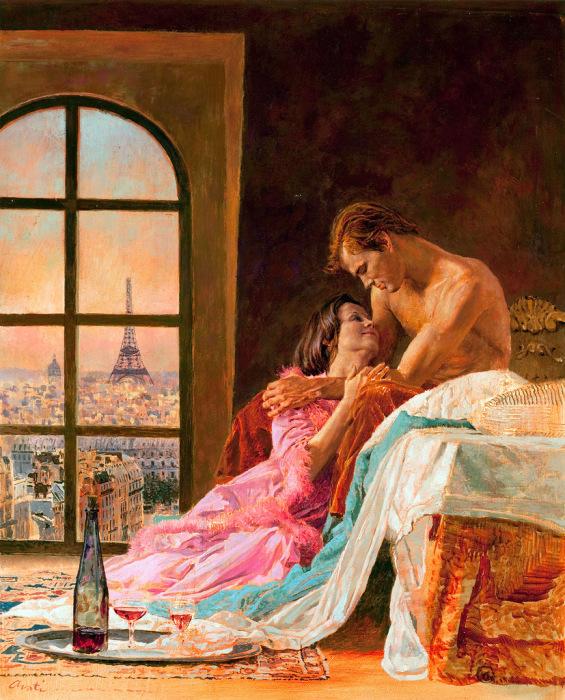 Любовь и страсть. Автор: Джэймс Этив (James Avati).