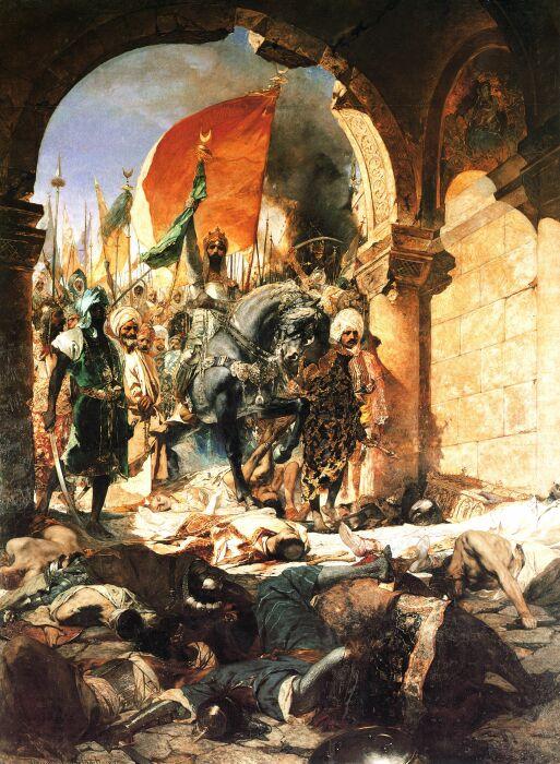 Въезд Мехмеда II в Константинополь двадцать девятого мая 1453 года, Бенджамин Констант, 1876 год. \ Фото: doubtfulsea.com.