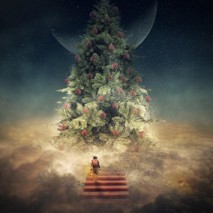 Рождественское дерево. Автор: Even Liu.