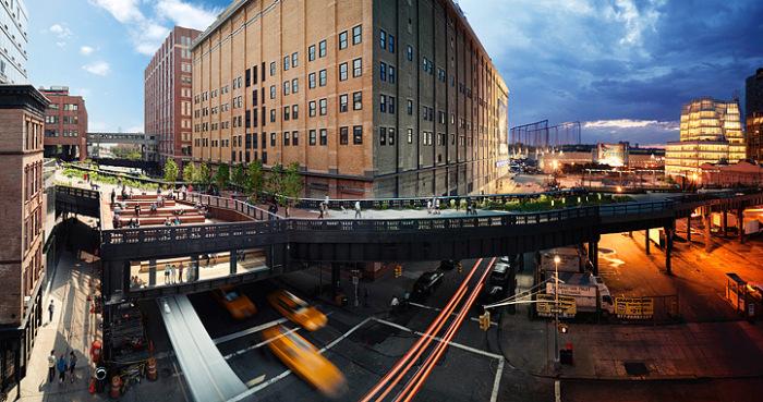 Парк Highline, Нью-Йорк. Автор работ: Стефан Вилкс (Stephen Wilkes).