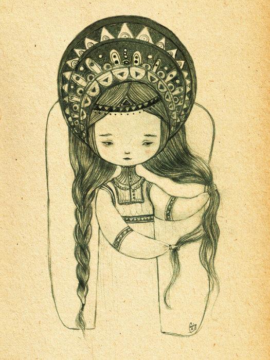 Катюшка. Автор работ: художница Лана Тополь (Chemical Sister).