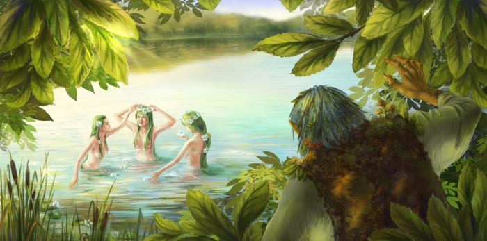 Лесное озеро. Сказочные работы Светланы Воробьёвой.