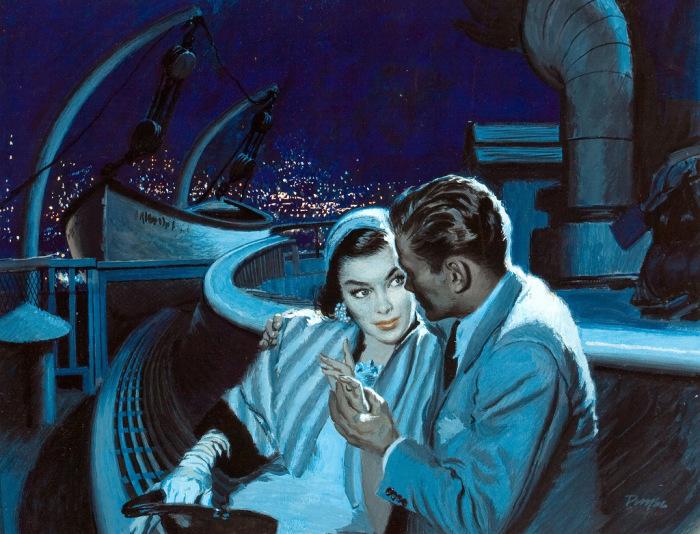 Звёздной ночью. Романтические ретро-иллюстрации.