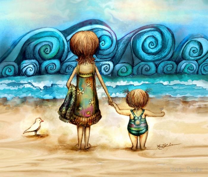 На берегу океана. Автор: Karin Taylor.