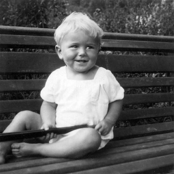 Здзислав Бексиньский в возрасте одного года. \ Фото: google.com.