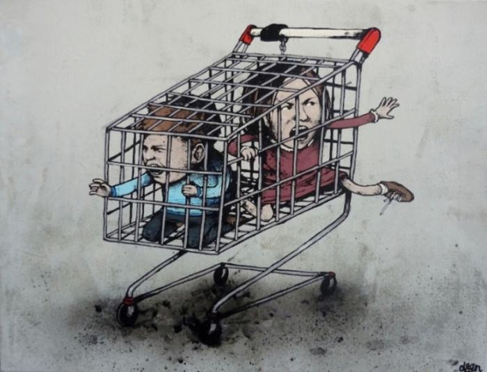 Детки в клетке. Автор: Dran.