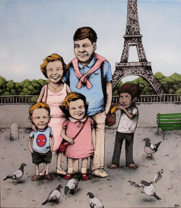 На улицах Парижа. Автор: Dran.