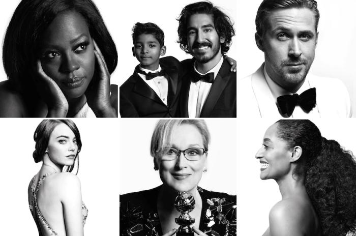 Fashion-портреты звёзд с церемонии «Золотой глобус» 2017. Авторы: Mert Alas и Marcus Piggott.