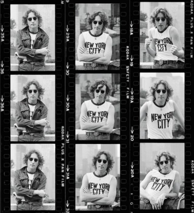 Джон Леннон (John Lennon), 1974 год. Автор фото: Bob Gruen.