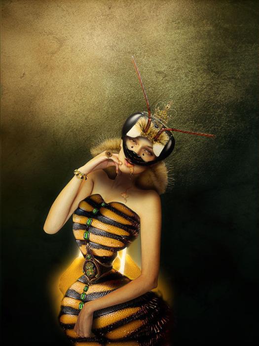 Пчела. Автор работ: Япи Хону (Japi Honoo).
