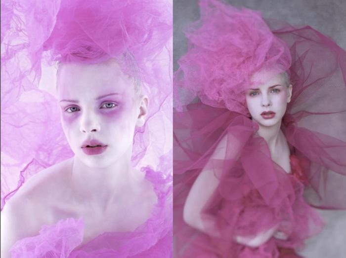 Вуаль из розового дыма.