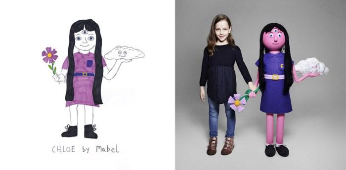 Художники воссоздали воображаемых друзей по детским рисункам.