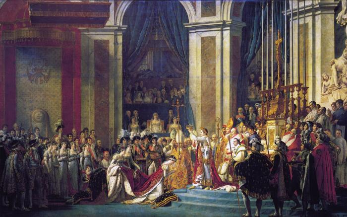 Помазание Наполеона I и коронация Жозефины – Жак-Луи Давид.