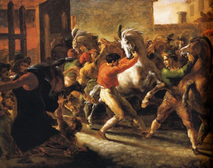 Бег свободных лошадей в Риме II.